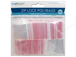 Organizers Bags: Craft Medley Zip-Lock Polybags 1 1/2 x 1 1/2 in. 200 pc.