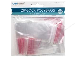 Multi's Embellishment  Yarn 12 x 12: Craft Medley Zip-Lock Polybags 1 1/2 x 2 in. 180 pc.