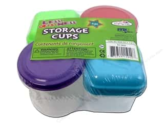 Measuring Tapes/Gauges Yarn Organizers: Craft Medley Storage Cups Kids with Lid 4 pc.