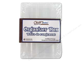 Boxes and Organizers Craft & Hobbies: Craft Medley Organizer Box 4 5/8 x 13/16 x 3 in. 6 Compartment 2 pc.
