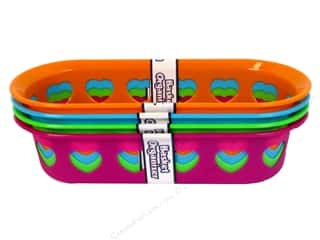 Multicraft Organizer Basket Oval with Hearts 11 3/4 x 5 in. (12 piece)