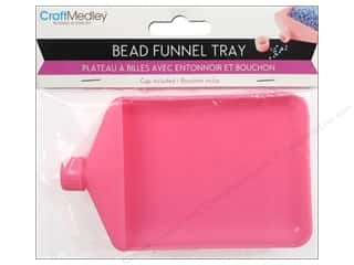 Craft Medley Bead Funnel Tray w ith Cap