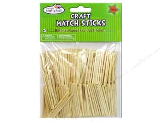 Unique Craft & Hobbies: Craft Medley Wood Craft Match Sticks 2 in. Natural 750 pc.