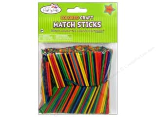 Kids Crafts $2 - $3: Craft Medley Wood Craft Match Sticks 2 in. Colored 750 pc.