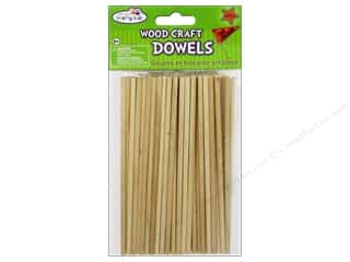 Craft & Hobbies Kids Crafts: Craft Medley Wood Dowel 6 x 5/32 in. Natural 60 pc.