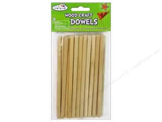Craft & Hobbies Kids Crafts: Craft Medley Wood Dowel 6 x 1/4 in. Natural 30 pc.