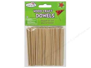 Toys New: Craft Medley Wood Dowel 4 x 1/8 in. Natural 100 pc.