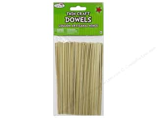 Toys New: Craft Medley Wood Dowel 6 x 1/8 in. Natural 140 pc.