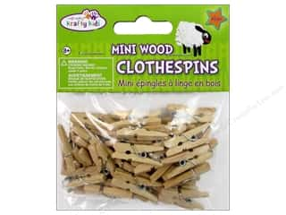 Unique Craft & Hobbies: Craft Medley Mini Clothespin 1 in. Natural 45 pc.