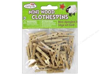Multi's Embellishment  Yarn $40 - $50: Craft Medley Mini Clothespin 1 x 3/16 in. Natural 40 pc.