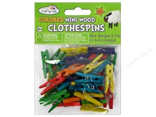 Multi's Embellishment  Yarn $40 - $50: Craft Medley Mini Clothespin 1 x 3/16 in. Colored 40 pc.