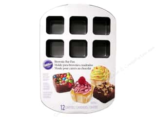 "Baking Supplies 12"": Wilton Brownie Bar Pan 12-Cavity"