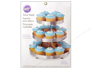 Stands: Wilton Treat Stand Silver with Border Stripes 3 Tier
