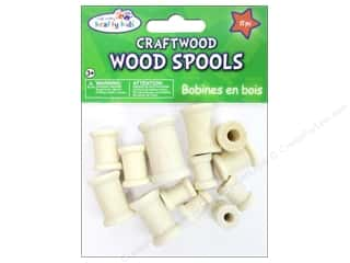 Kid Crafts Wood: Craft Medley Wood Spools Assorted Natural 13 pc.