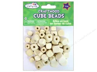 Craft Medley Wood Bead Cube 7/16 - 5/8 in. Natural 54 pc.
