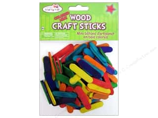 Craft Medley Craft Sticks 1 1/2 in. Mini Colored 120 pc.
