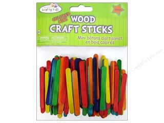 Kids Crafts $2 - $3: Craft Medley Craft Sticks Mini 2 1/8 in. Colored 150 pc.