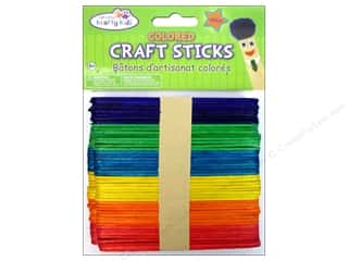 Craft Medley Craft Sticks 4 1/2 in. Colored 100 pc.
