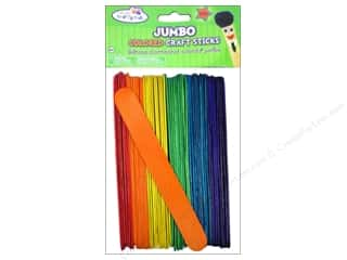 Kids Crafts $6 - $122: Craft Medley Craft Sticks Jumbo 6 in. Colored 50 pc.