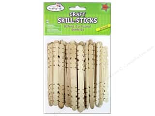 Craft Medley Wood Skill Sticks 4 1/2 in. Natural 100 pc.
