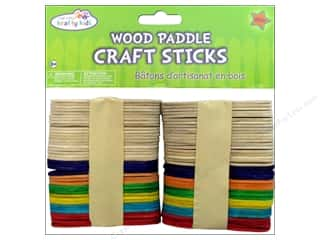 Craft Medley Wood Paddle Craft Sticks 3 in. Assorted 80 pc.