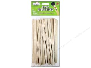 Craft Embellishments $50 - $80: Craft Medley Wood Craft Stir-Sticks 7 1/2 in. 80 pc.