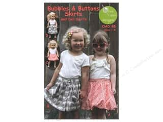 Bubbles & Buttons Skirts Size 1-8 Pattern