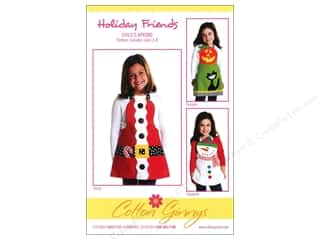 Winter Patterns: Cotton Ginnys Holiday Friends Child's Apron Pattern