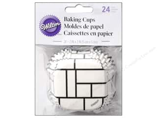 Baking Supplies New: Wilton Baking Cup Square Black/White Block 24 pc.