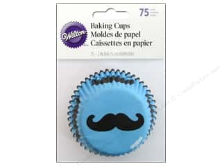 Wilton Standard Baking Cups Mustache 75 pc.