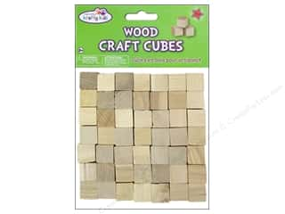 Craft Medley Wood Craft Cubes 5/8 in. Natural 49 pc.