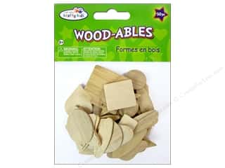 Craft Medley Wood Shapes Natural 50 pc.