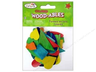 Kid Crafts Clearance: Craft Medley Wood Shapes Colored 50 pc.