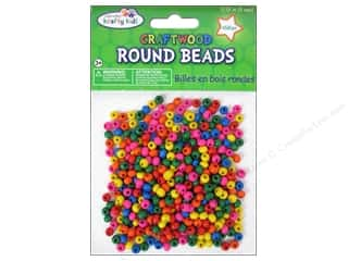 Craft Medley Wood Bead Round 3/16 in. Colored 450 pc.
