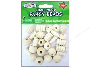 Craft Medley Wood Bead Fancy Assorted Natural 28 pc.
