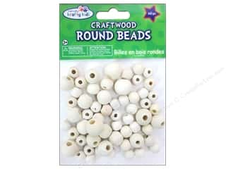 Children Wood: Craft Medley Wood Bead Round 7/16 - 5/8 in. Natural 60 pc.