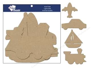 Paper Accents Chipboard Shape Transportation 8 pc. Kraft