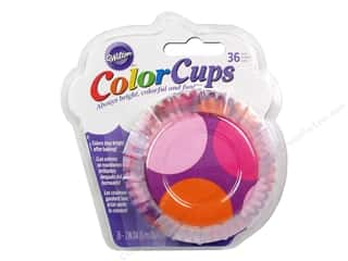 Wilton Baking Cup Colorcups Large Dots 36 pc. Pink