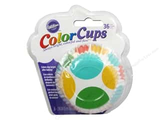 Wilton Baking Cup Colorcups Large Dots Multi 36pc