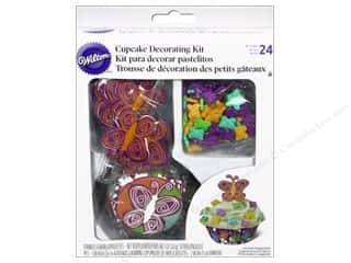 Holiday Sale Wilton Kit: Wilton Decorations Cupcake Decorating Kit Bfly48pc
