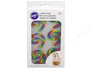 Cooking/Kitchen Edibles / Foods: Wilton Candy Curls Primary 6 pc.