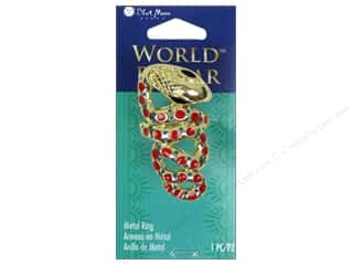 Licensed Products Blue Moon World Bazaar: Blue Moon Beads Metal Ring World Bazaar Gold Snake