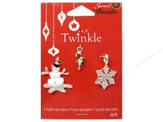 Charms and Pendants Sewing & Quilting: Sweet Beads Twinkle Charm Metal Silver Assorted 1 3pc