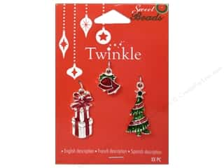 Charms and Pendants Sewing & Quilting: Sweet Beads Twinkle Charm Metal Silver Assorted 2 3pc