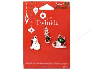 Charms and Pendants Sewing & Quilting: Sweet Beads Twinkle Charm Metal Silver Assorted 3 pc.