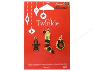 Charms and Pendants Sewing & Quilting: Sweet Beads Twinkle Charm Metal Gold Assorted 1 3pc