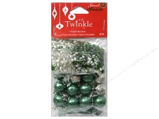 pony beads: Sweet Beads Twinkle Bead Christmas Mix Green 90gr