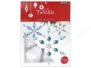 Novelty Items: Sweet Beads Twinkle Frame 6 in. Snowflake Large 6 pc.