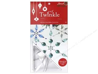 "Novelty Items Home Decor Novelties: Sweet Beads Twinkle Frame 4"" Snowflake Large 9pc"