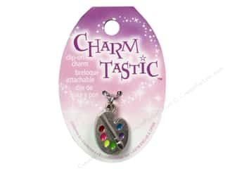 Charms New: Janlynn Charmtastic Clip-On Charm Artist Palette (3 pieces)